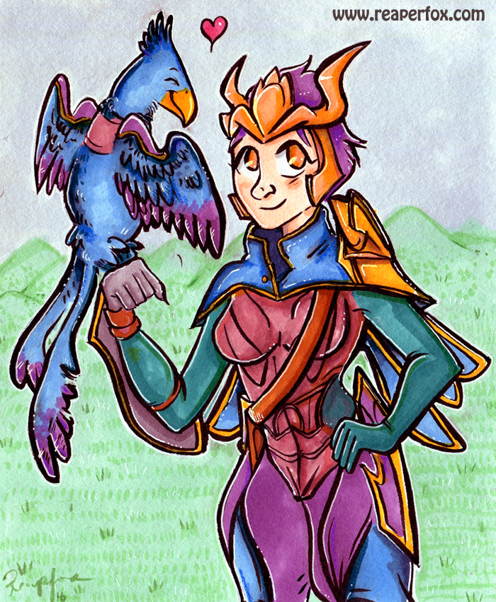 Quinn and Valor - League of Legends! by reaperfox