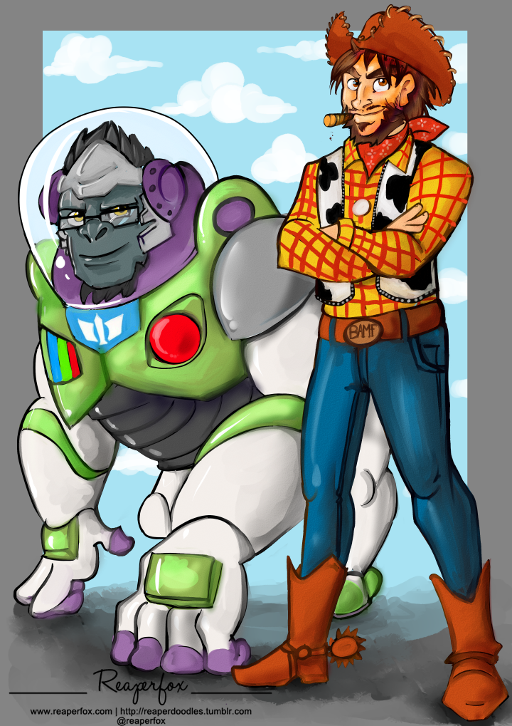 Overstory? Toy Watch? Crossover silliness! by reaperfox