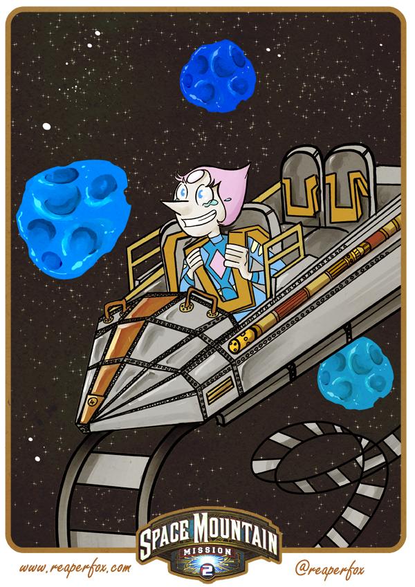 Disney Gems! Pearl on Space Mountain! by reaperfox