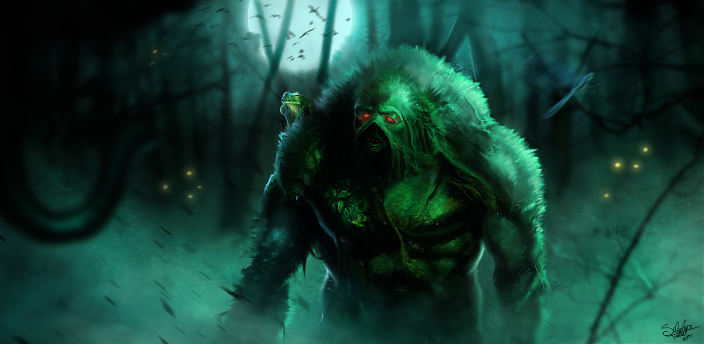 The Swamp Thing by SalvadorTrakal