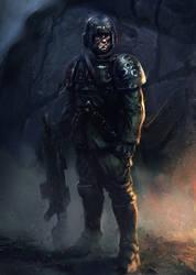 Imperial Guardsmen by SalvadorTrakal