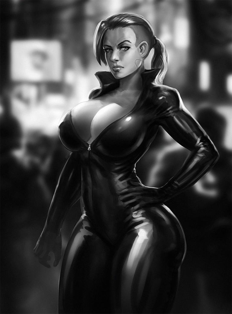 Catsuit Sketch by SalvadorTrakal
