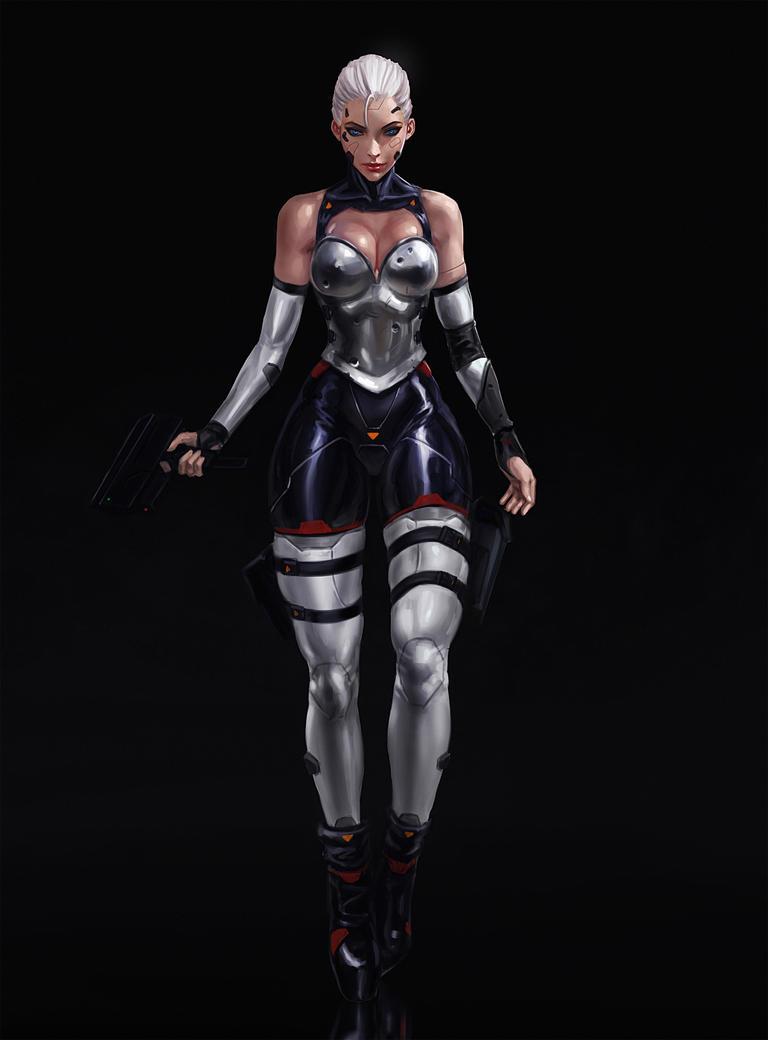 Cyberpunk Assassin by SalvadorTrakal