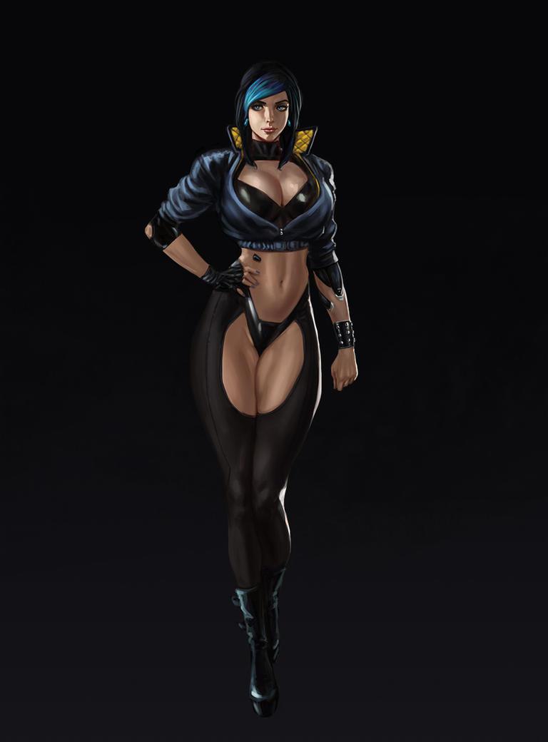 Cyberpunk Character Design by SalvadorTrakal