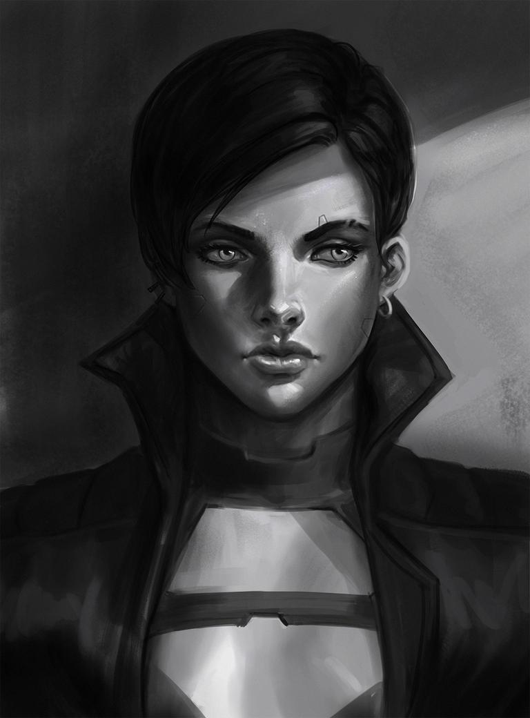 Portrait Sketch Female by SalvadorTrakal