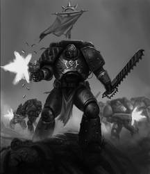 Twitch Stream Space Marine Sketch by SalvadorTrakal