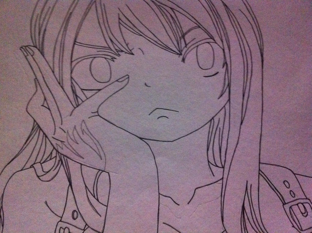 Lucy Heartfilia Lineart : Lucy heartfilia lineart by soarindash123