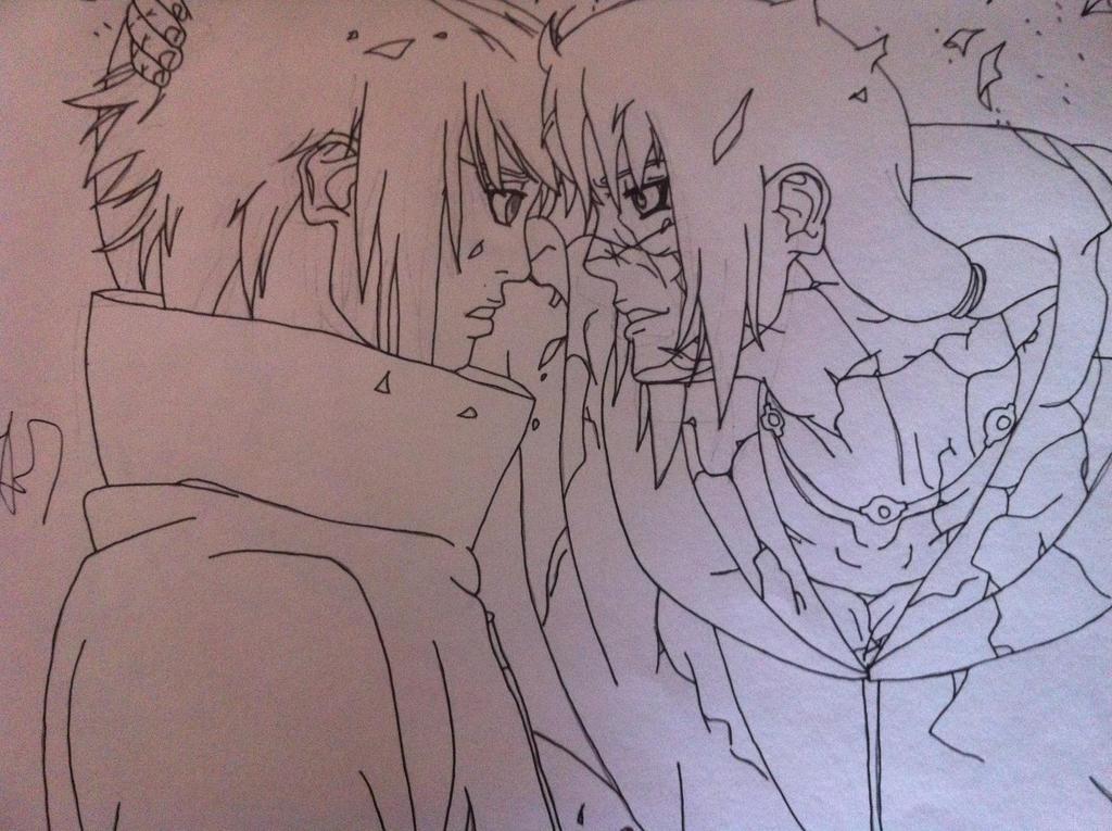 Sasuke Lineart : Sasuke and itachi lineart by izanami on deviantart