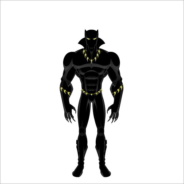 pantera negra by fabricadeherois on deviantart