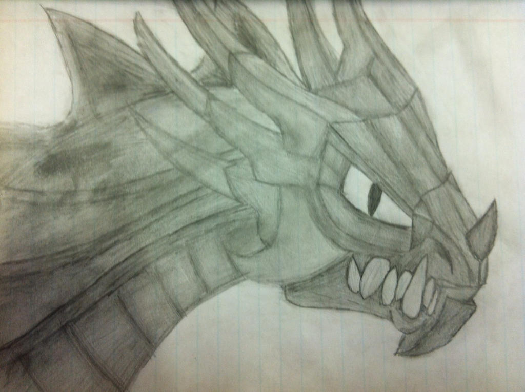 Greyscale dragon by Axelvolf