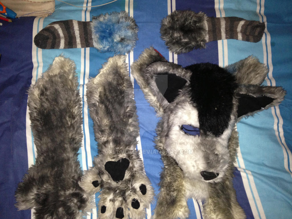 Fursuit partial [DONE] by Axelvolf