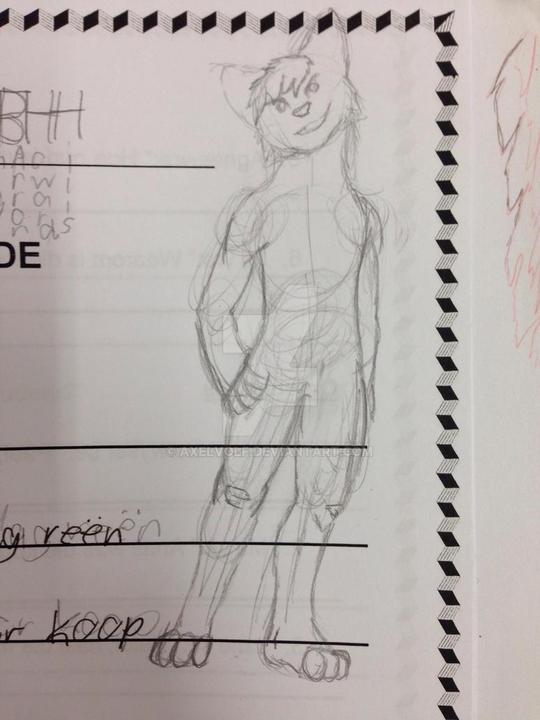 Doodles in school by Axelvolf
