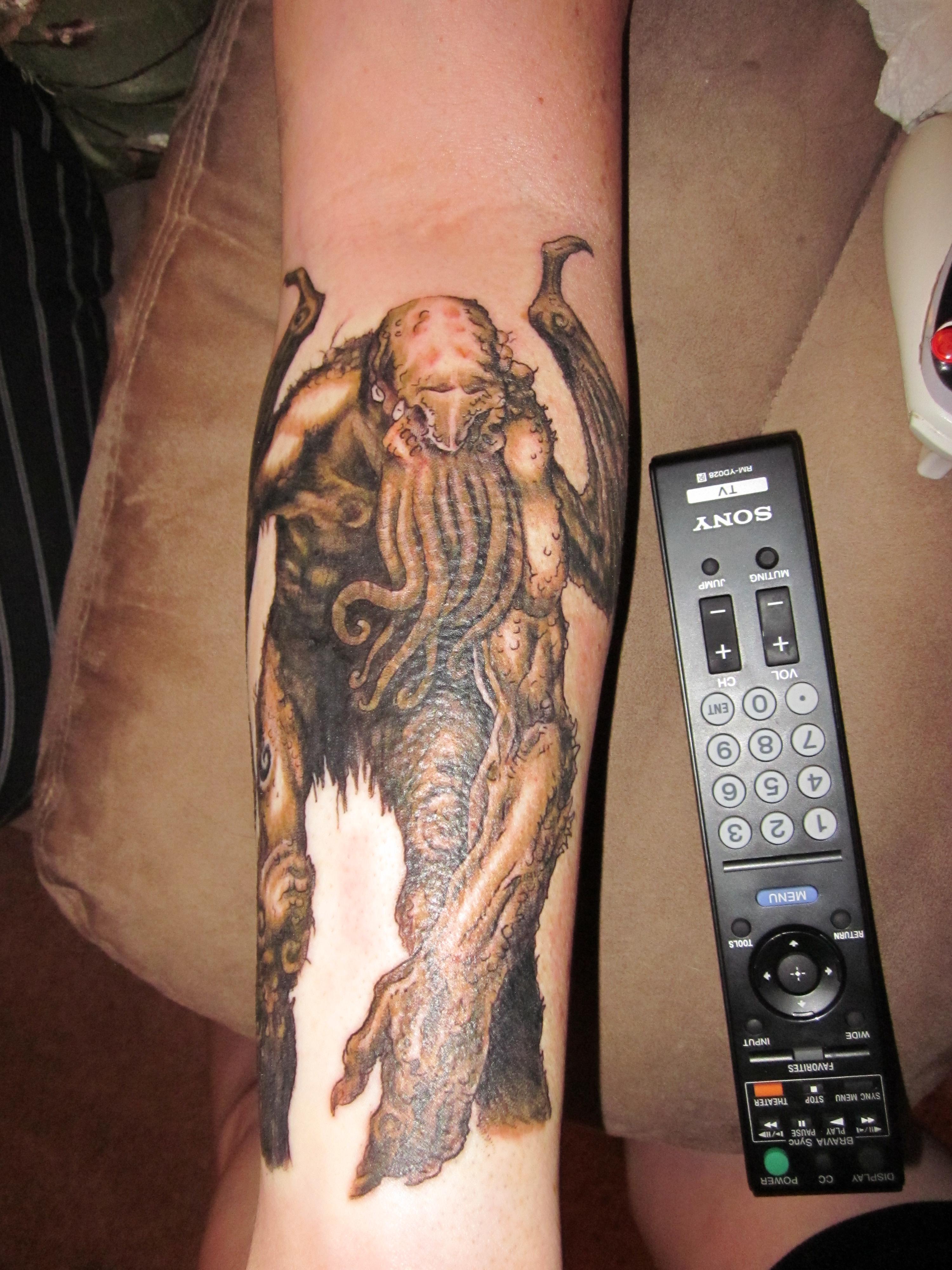 Cthulhu Tattoo by turtle31b