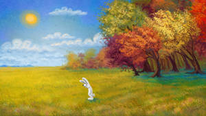 Autumnal philosophical rabbit by ElenaTurtle
