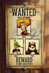 Wanted poster by AaronHoustonArt