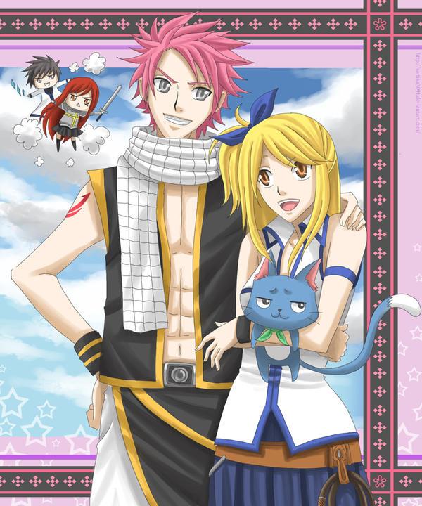 Natsu and Lucy by Sartika3091 on DeviantArt
