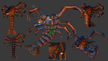 Death Claw Model Textured and Rigged