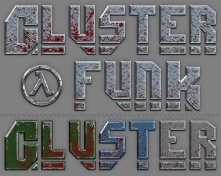 Cluster Funk Logo Design and alt. Color Schemes