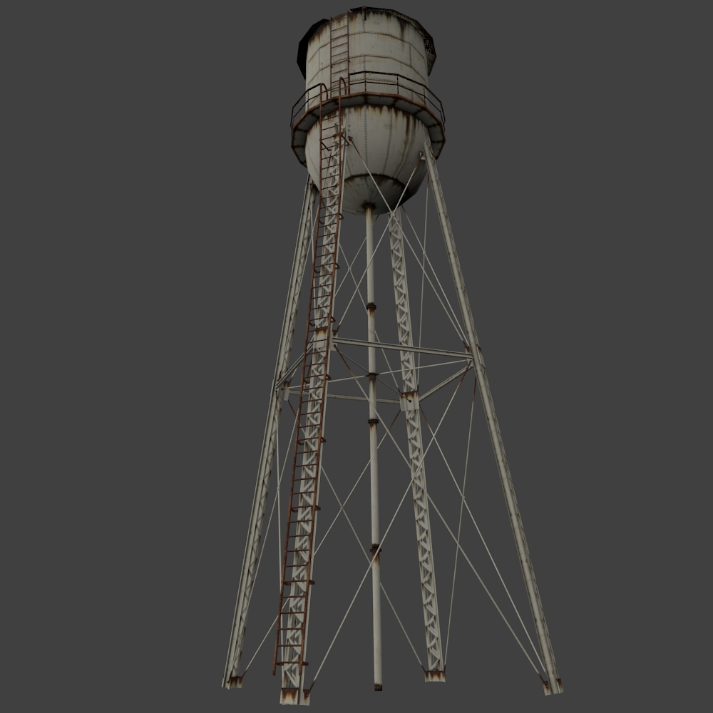 Rusty Water Tower by ToTac