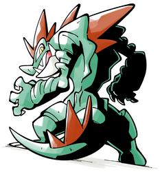 Feral Gator by Shenaniganza