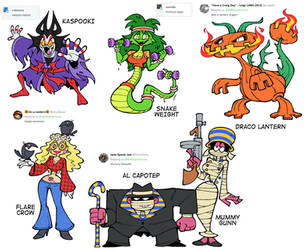 Halloween 2018 Character Design Prompts by Shenaniganza
