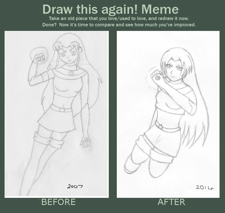Starfire Draw This Again by AkidaSoren