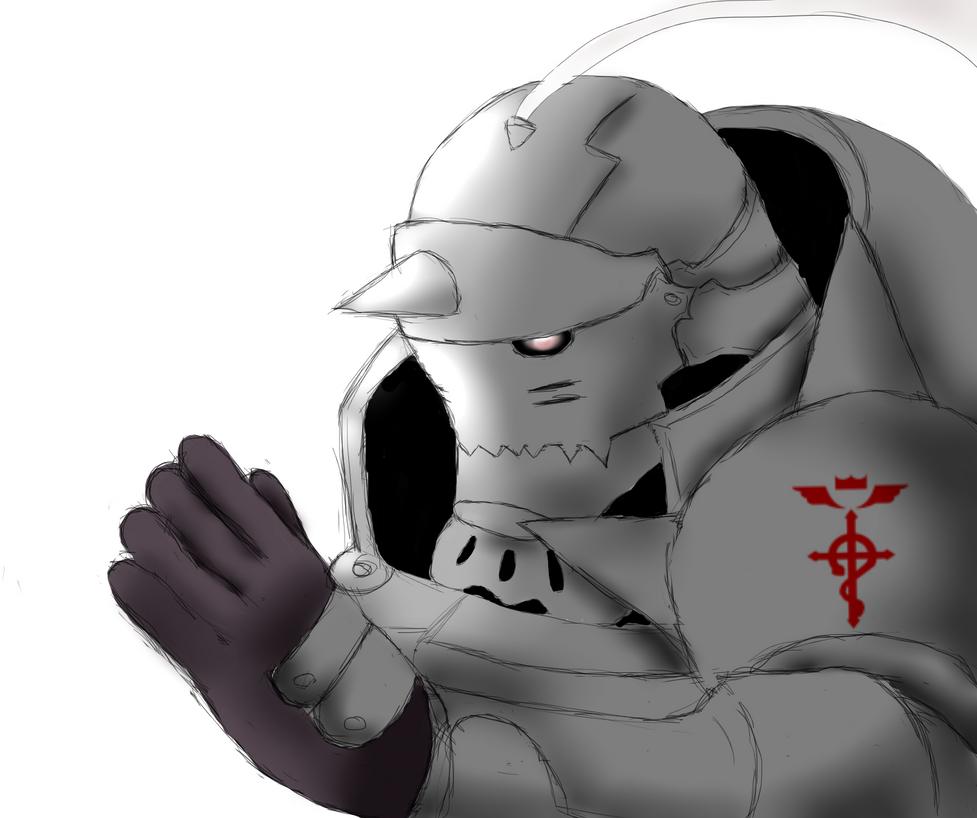 Armour Alphonse Sketch by AkidaSoren