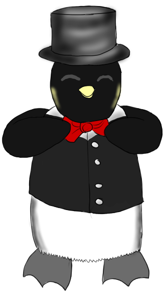 Dapper penguin by AkidaSoren