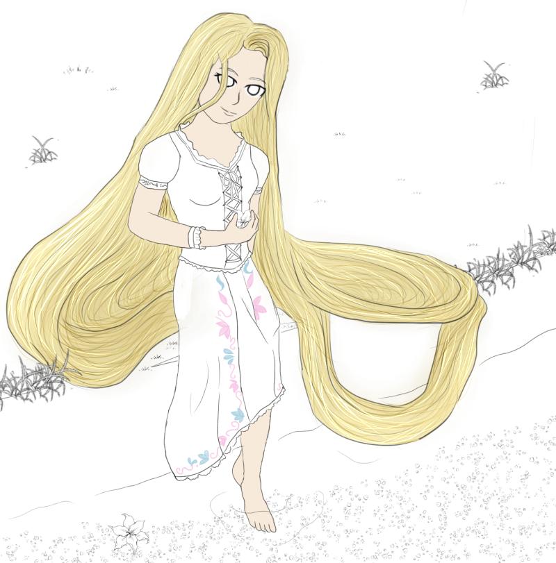 Rapunzel W.I.P by AkidaSoren