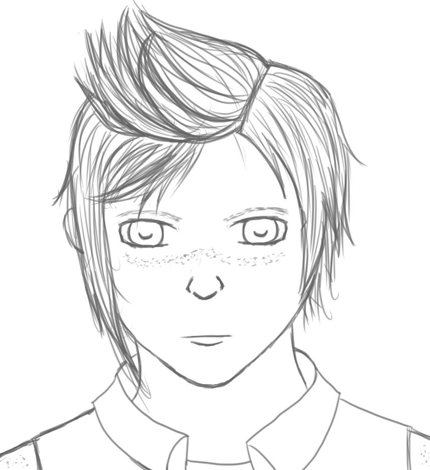 Prompto sketching by AkidaSoren
