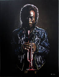 'Dark Magus', Miles Davis, 18x24 oil on canvas
