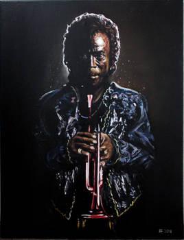 'Dark Magus', Miles Davis, 18x24 oil on canvas