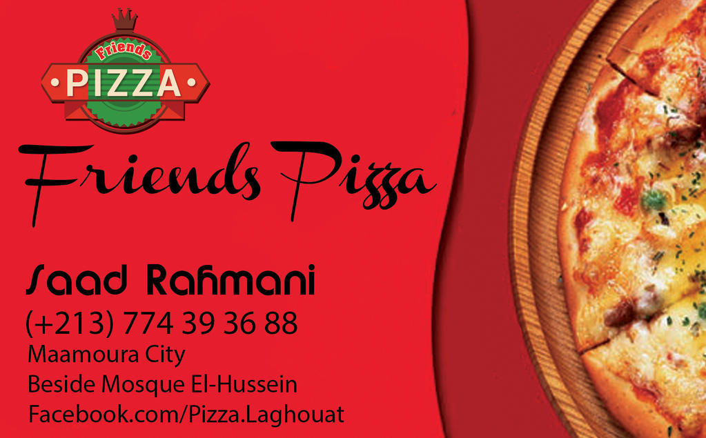 Friends Pizza business card design by Helifagraphie on DeviantArt