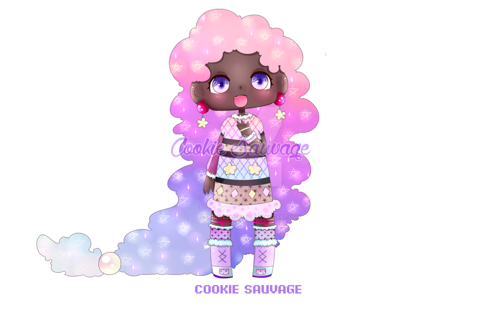 Cute Black Girl Chibi Oc By Cookiesauvage On Deviantart