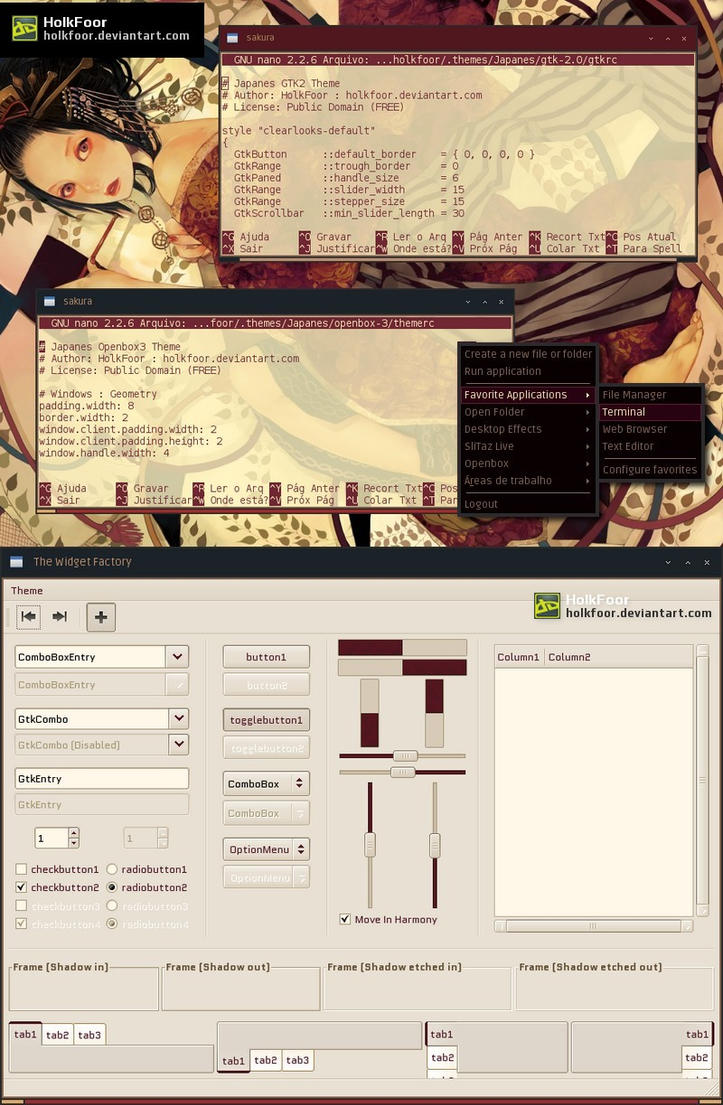 Japanes Openbox and GTK2 Theme by holkfoor