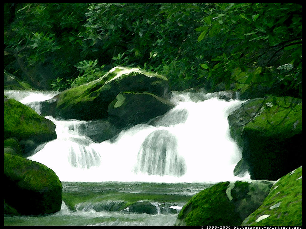 Watercolor Waterfalls I by ransim