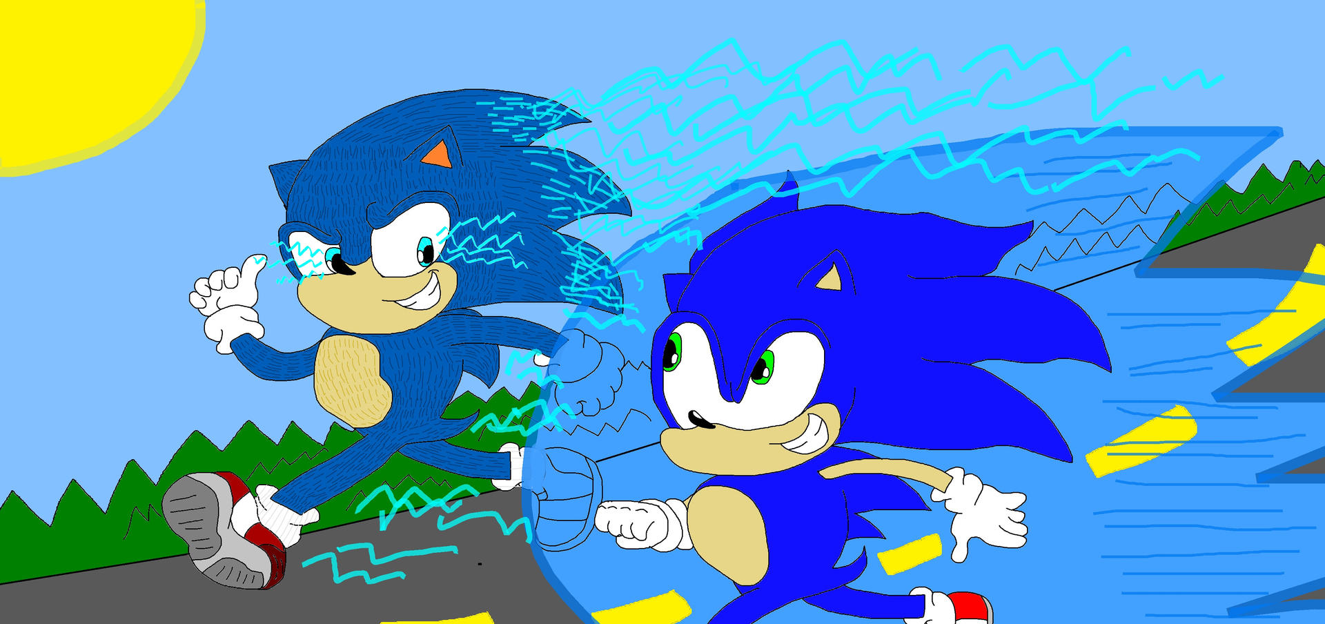 Video Game Sonic Vs Movie Sonic 2020 By Supershamoroniel On Deviantart