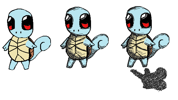 little Squirtle sketch by Smileysheep