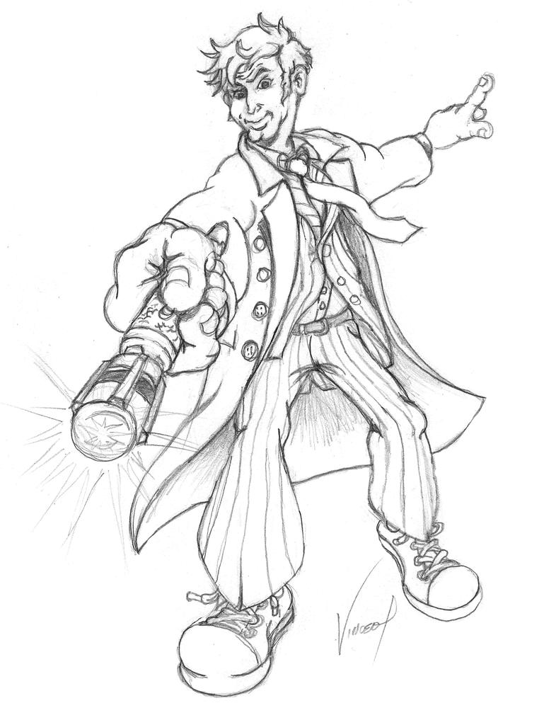 doctor who sketch 10th 11th doctor tennant by powerplaygraphix