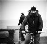 Man on bike by Mokarta-Photo