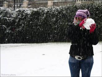 Friends and Snow 8 by Mokarta-Photo
