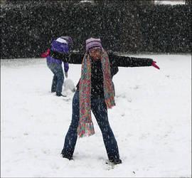 Friends and Snow 13 by Mokarta-Photo