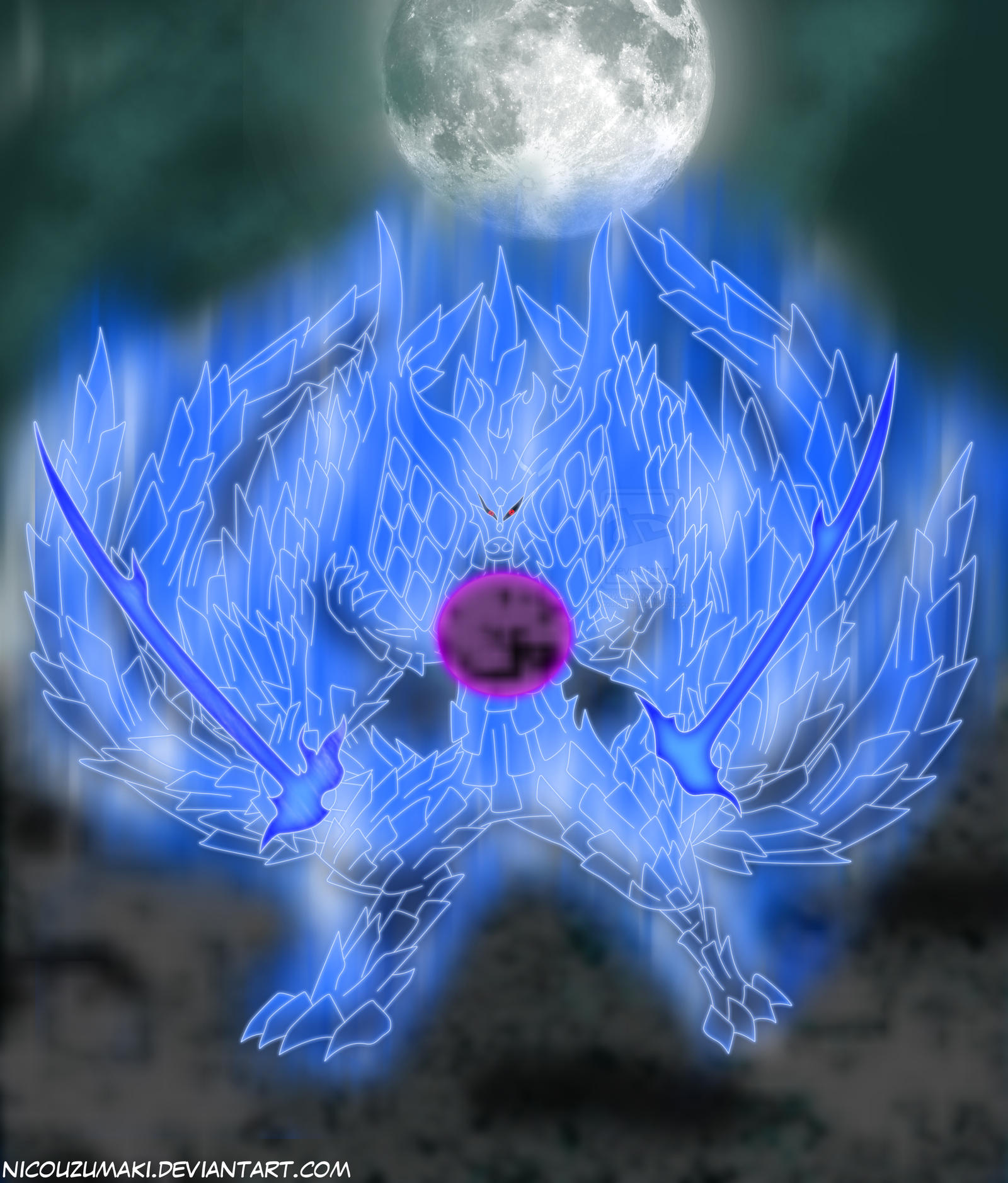 Madara kyuubi perfect susanoo looks epic!!!