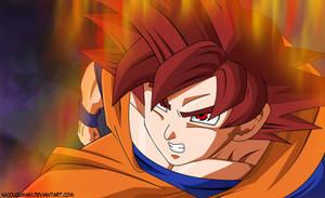 Goku Modo super saiyajin dios by nicouzumaki