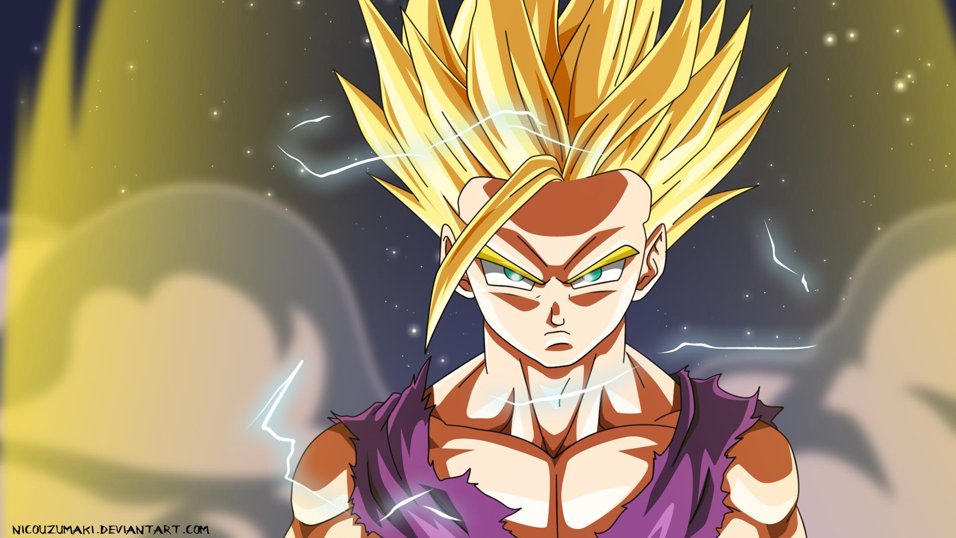Dragon Ball Z Para Colorir Gohan Super Ssj 2: Désertion De Akira~Senjutsu Du Grizzli