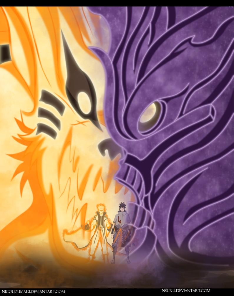 naruto y sasuke vs obito NARUTO MANGA 651 by nicouzumaki
