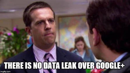 There is No Data Leak Over Google+