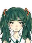 Fanart: Hatsune Miku (Colored Version) by craftsbysam