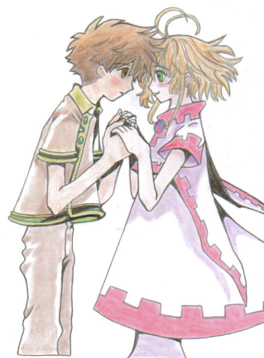 Syaoran and Sakura-Blush by WingsofMemories