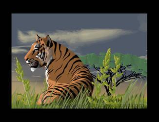 Tiger by kuronekosan